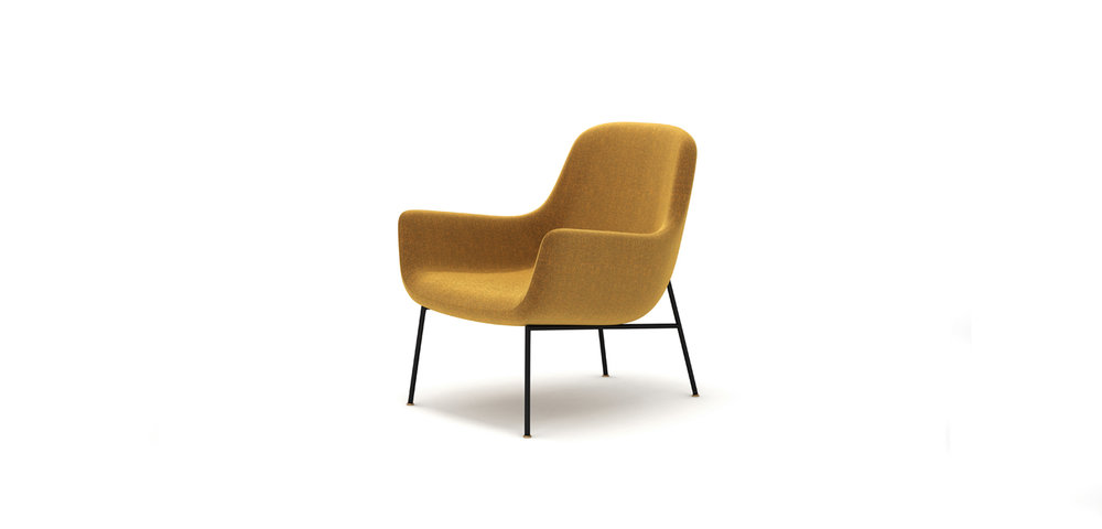 LOVY ARMCHAIR BRAND:  HC28 COSMOPOLITAN  WEB:   www.hc28cosmo.com.cn  Lovy Armchair finds an ingenious balance between modern and comfortable, design and practicality, showing elegant and comfortable life posture in the straight and winding changes of the outline.
