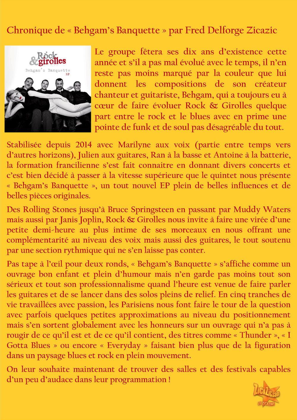 Rock & girolles G chronique EP ZICAZIC
