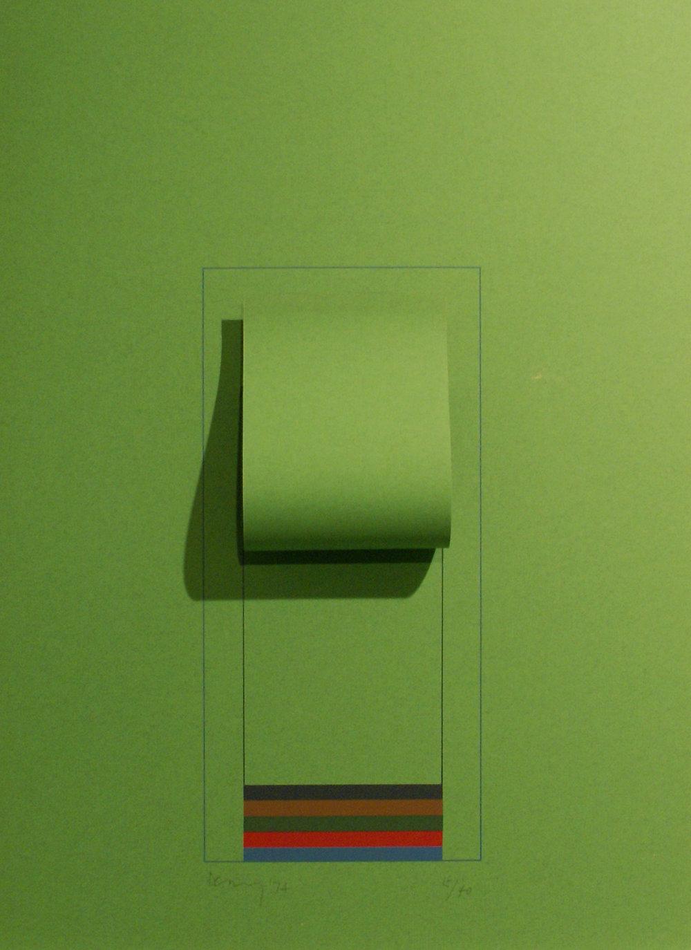 Mirrors (Bright Green), 1974