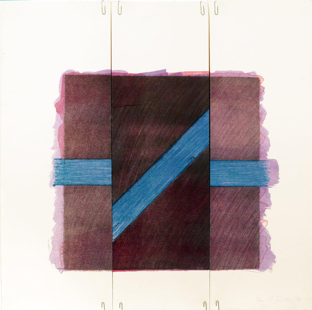 Two of a Kind Va (Broken Blue Line on Purple), 1978