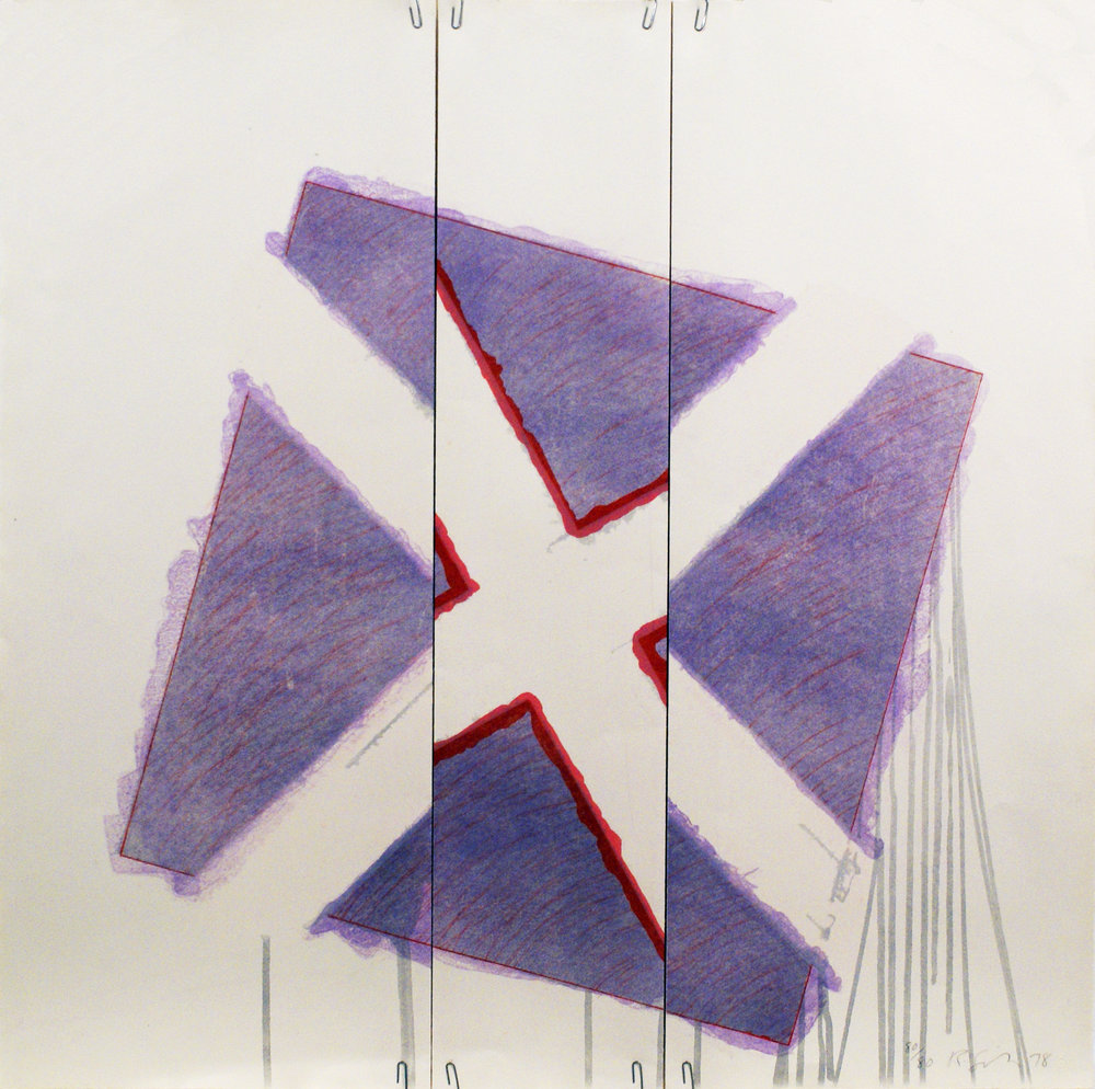 Two of a Kind IVb (Red x on Lavender at Angle), 1978