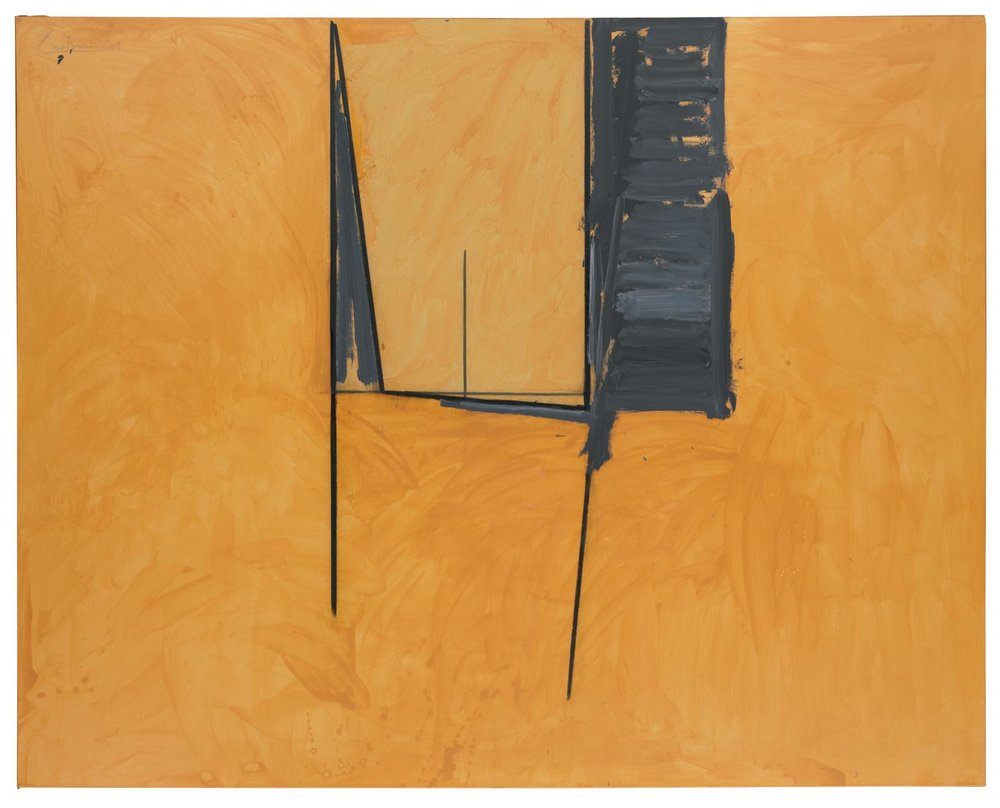 Robert Motherwell, The Mexican Window, 1974, Acrylic and charcoal on canvas, 194.3 x 243.8 cms (76 1/2 x 96 ins)