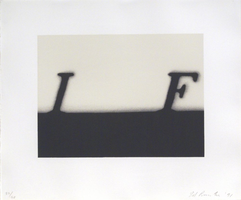 Ed Ruscha,  If , 1991, Lithograph on white Rives BFK paper, 38.1 x 45.7 cms (15 x 18 ins)