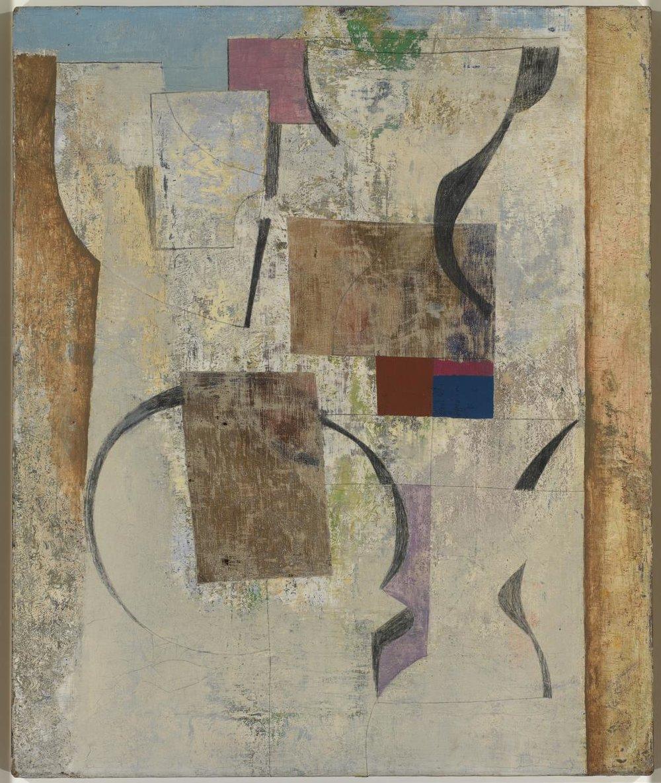 Ben Nicholson, May 1955 (Italian Wall), 1955, Oil on canvas, 62.2 x 51.1 cms (24 1/2 x 20 ins)