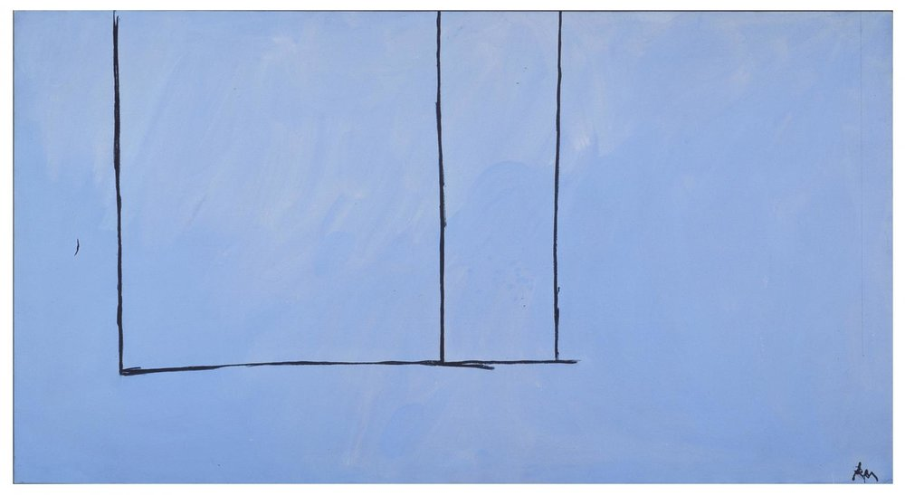 Robert Motherwell, Open 151, 1970, Acrylic and charcoal on canvas, 119 x 224 cms (46 7/8 x 88 1/8 ins)
