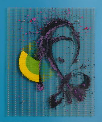 William Tillyer - España, 177.8 x 147.32 x 12.8 cms (70 x 58 x 5 INS)