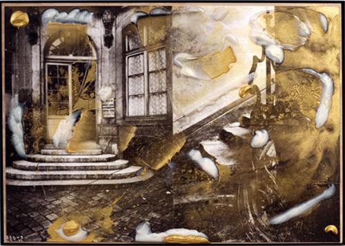 J&E Diptych #6 , 20077, Acrylic on Archival Digital Print, 106.7 x 152.4 cms (42 x 60 ins)