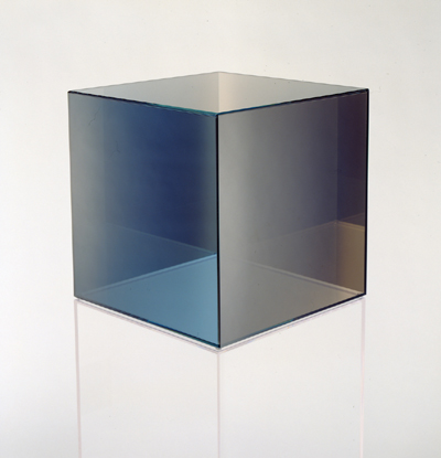 Cube #26, 2007, Coloured glass coated with inconel, 15 x 15 x 15 ins (38 x 38 x 38 cms)