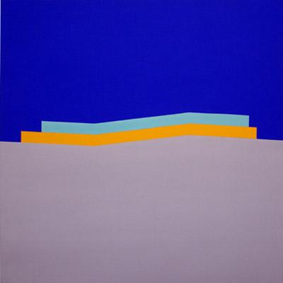 Wake, 1965, Acrylic on cotton duck, 213 x 213 cms