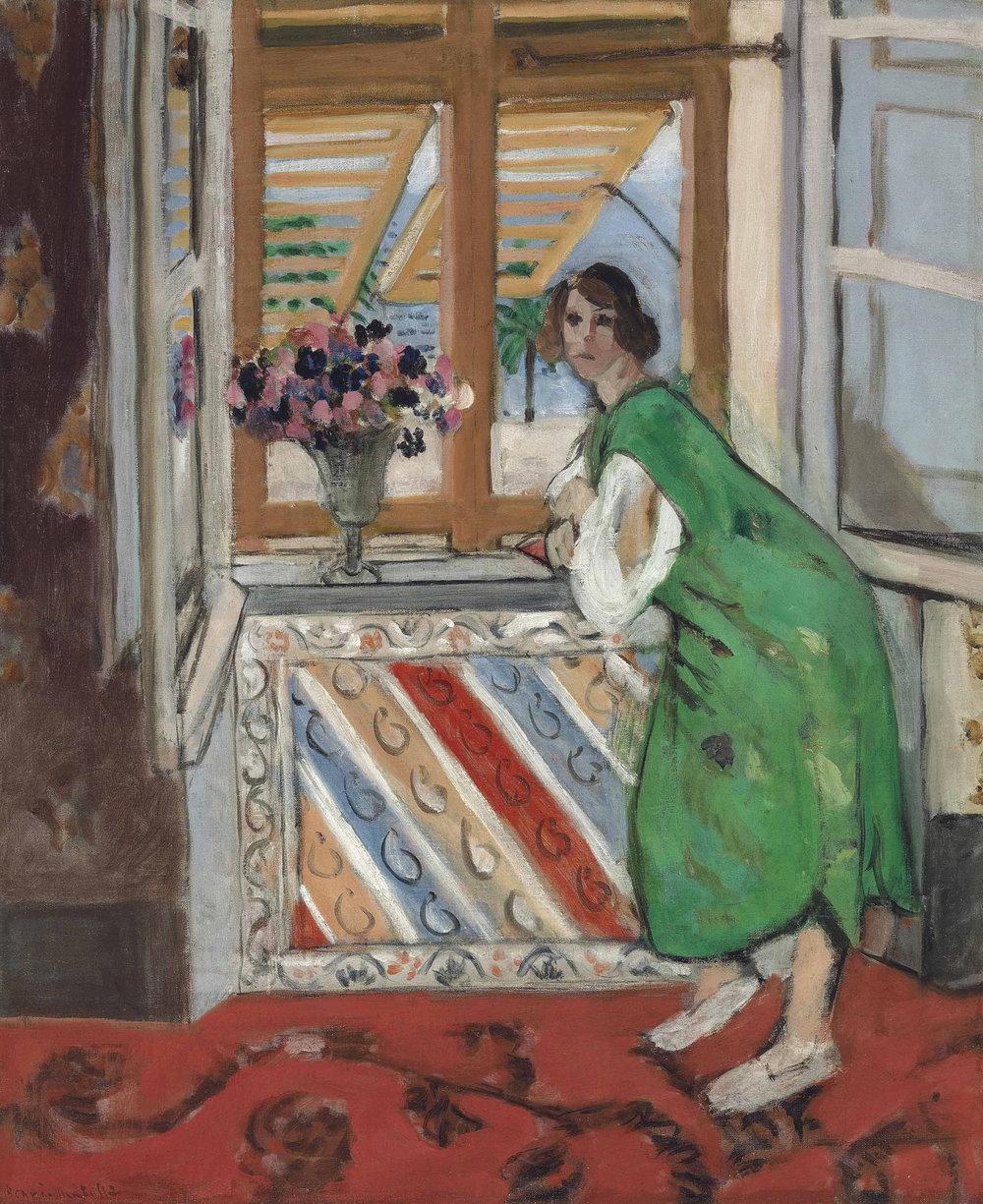 Henri Matisse, Jeune fille a la mauresque, robe verte, 1921, Oil on canvas, 66 x 55 cms (26 x 21 5/8 ins)
