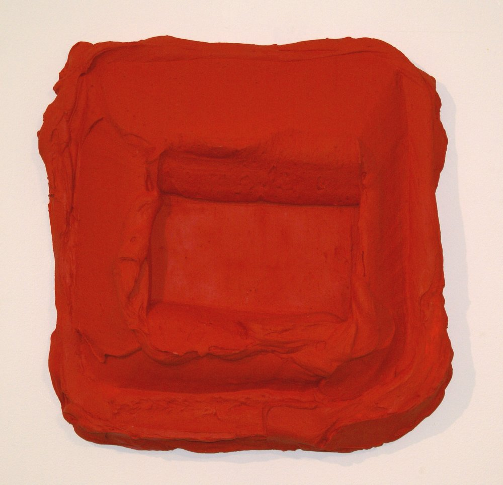 Bram Bogart,  Rouge-Rouge , 2007, Mixed media, 50 x 50 cms (19 11/16 x 19 11/16 ins)