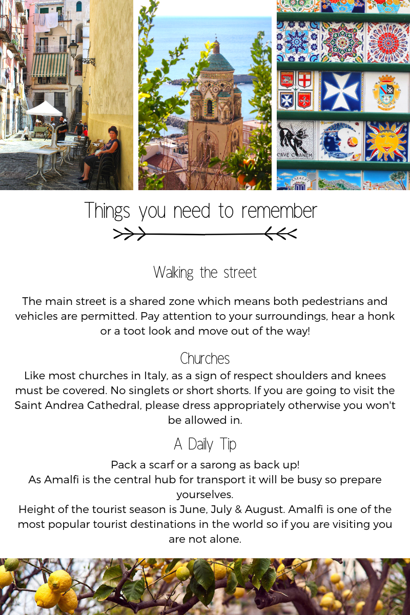 things to see amalfi coast