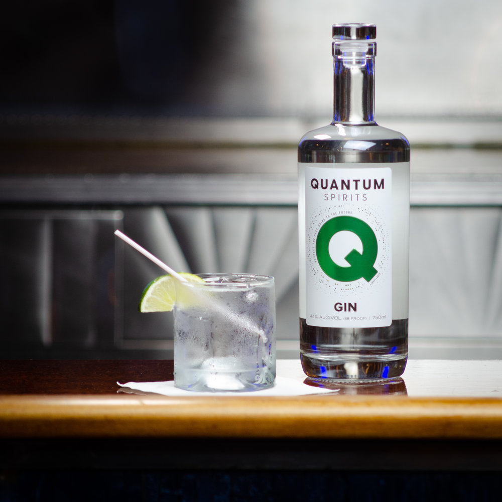 Nothing like local. Our extensive collection of hard stuff Will make you very happy.    - Quantum Spirits
