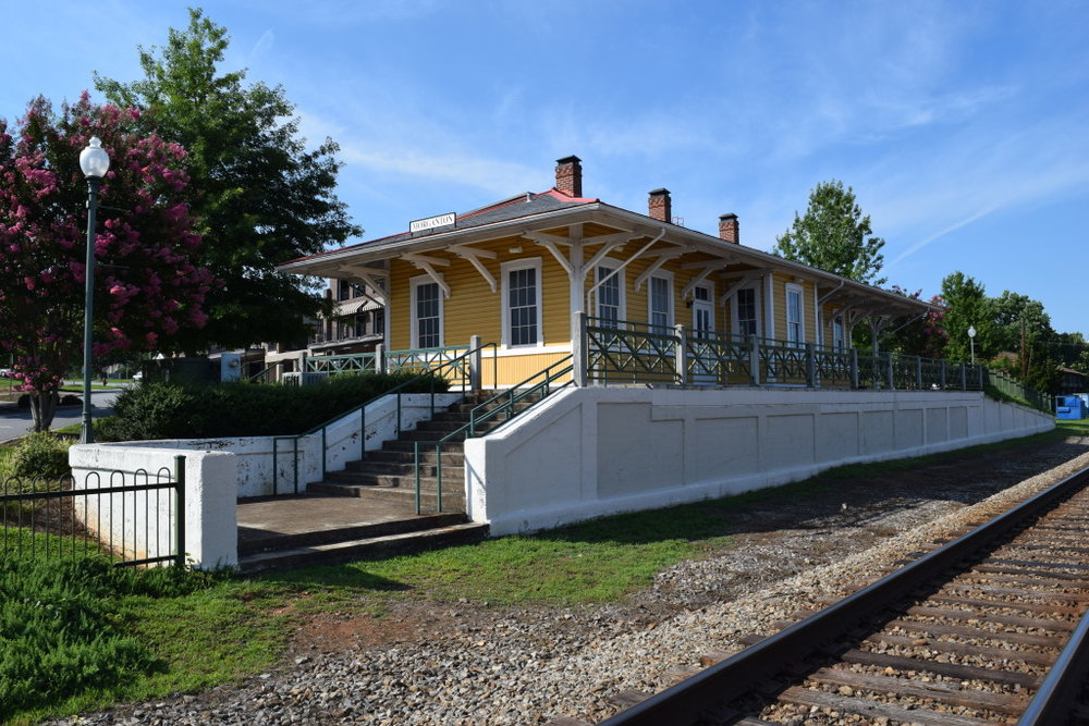 Morganton Depot Museum operated by The History Museum of Burke County is located at the old Morganton Train Depot.