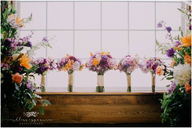 Country Bouquets - Soft pastel colors make the perfect pallet for your rustic country wedding!