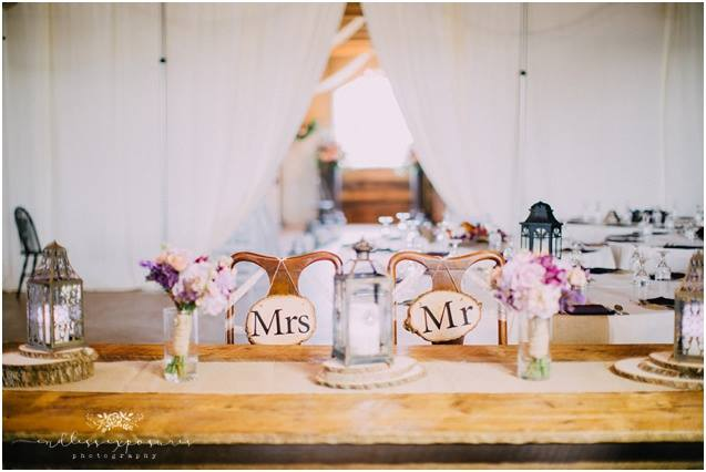 Lantern Centerpieces - With white candles and soft light, lantern centerpieces will make your rustic reception glow.