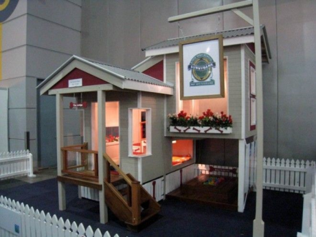 The mezzanine dog house