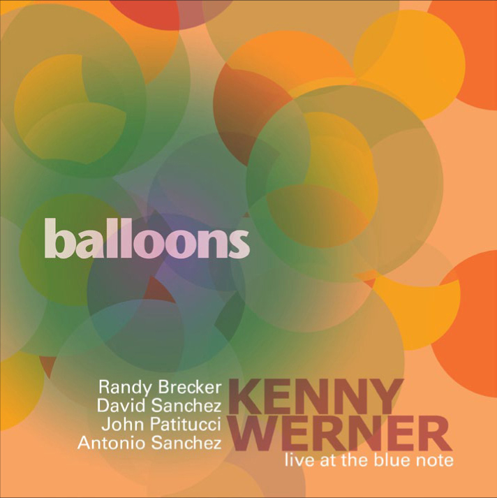 "Kenny Werner with Randy Brecker | Balloons - Kenny Werner assembles a sterling group of associates - Randy Brecker, David Sanchez,John Patitucci, Antonio Sanchez - for an in-depth examination of four originals, all showcasing Werner's singular approach to composition and the group's approach to improvisation. The tracks are spirited, lyrical, possessing song-like qualities that evoke both a meditative air and the effortless whimsy of children at play. That these ""children"" are among jazz's greatest practitioners, and Werner among its most compelling conceptualizers, only underscores the sophistication of this record. The connections made here take us to a place where, as Werner puts it, ""the musicessentially plays itself."""