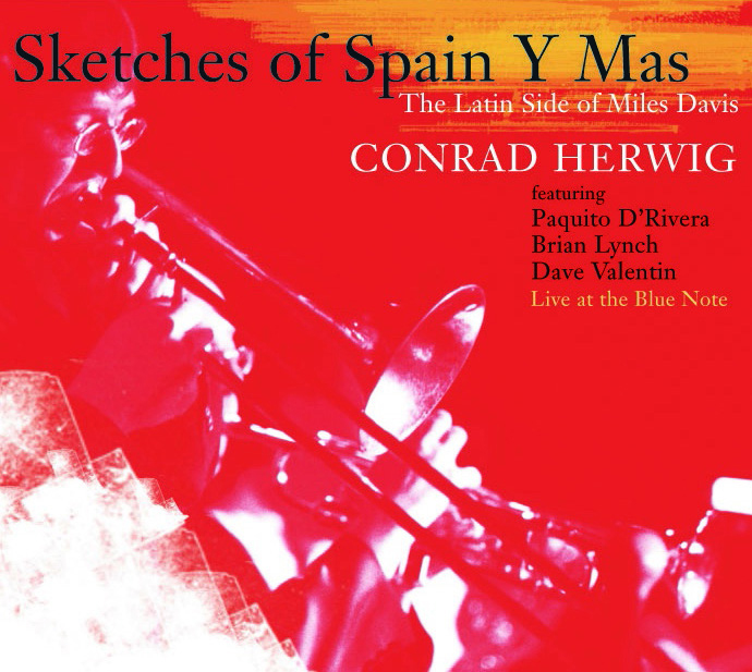 "Conrad Herwig | Sketches of Spain Y Mas - As a follow-up to his Grammy-nominated album, ""Another Kind of Blue: The Latin Side of Miles Davis,"" trombonist Conrad Herwig showcases his riveting integration of Afro-Cuban and Afro-Caribbean rhythms with ""Sketches of Spain,"" the legendary collaboration between Miles Davis and Gil Evans. Herwig leads his nonet from the famed Blue Note jazz club stage in New York, inspiring spirited performances from trumpeter Brian Lynch and guest artists, saxophonist Paquito D'Rivera and flutist Dave Valentin. All romp through the album's masterwork title, as well as Miles' classics, ""Solar,"" ""Petits Machins,"" and ""Seven Steps To Heaven."""