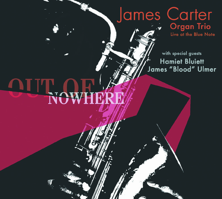 "James Carter | Organ Trio - Think of this music as Avant-Roadhouse. Master saxophonist James Carter and his organ-based trio are rooted in a barroom esthetic. The rhythm section lays down a bluesy, funk, roots groove, over which Carter blows Extreme Saxophone.What makes the date different is that baritone specialist Hamiet Bluiett goes head to head with Carter, while guitarist James ""Blood"" Ulmer steps in and out of the gut-bucket with signature wah-wah.Punchy? Accessible? In your face?Yes. Yes. Yes."