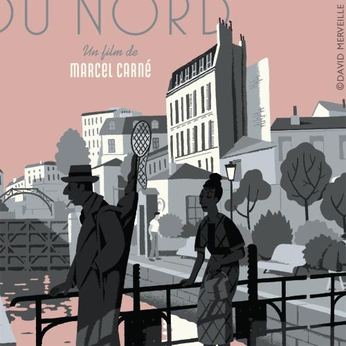 Détail - Sérigraphie - Hôtel du Nord