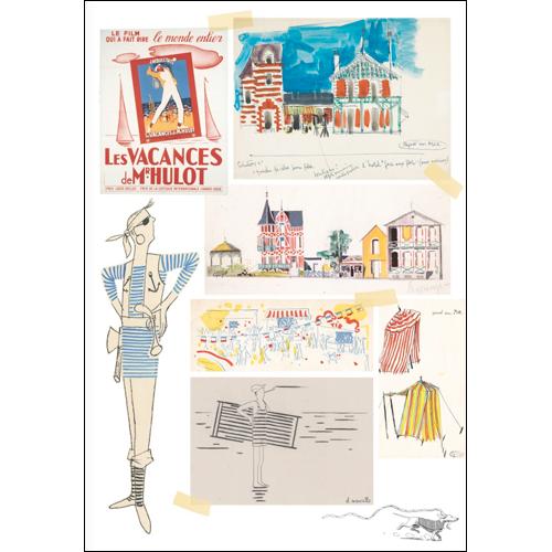 Cahier de coloriage de Jacques Tati