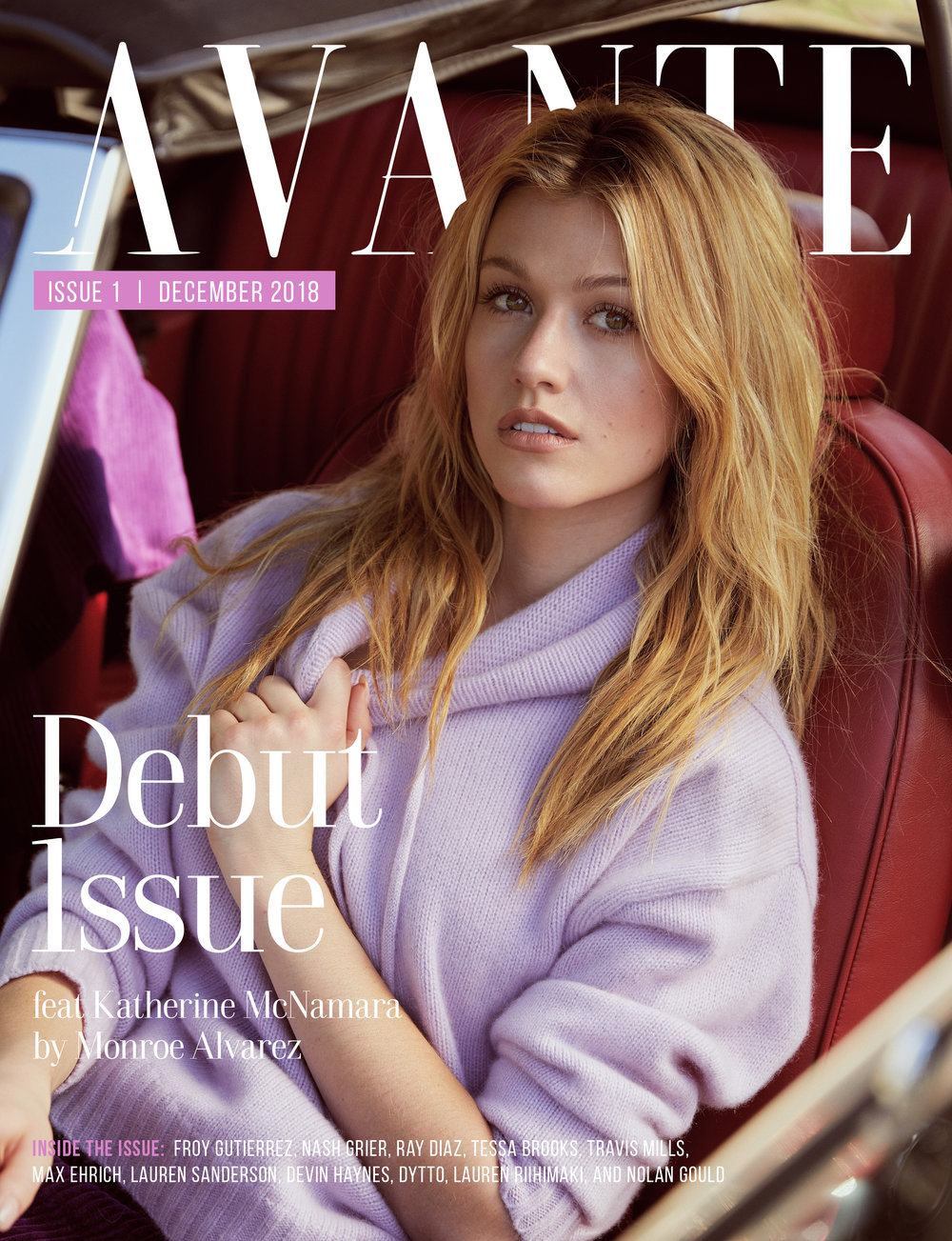 Kat McNamara for Avante Magazine December 2018