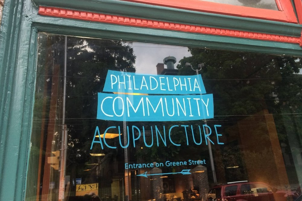 pca sign on high point cafe window