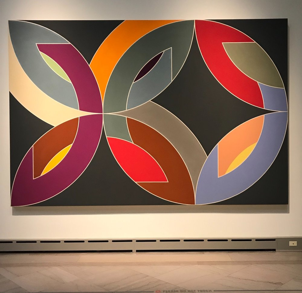 """Frank Stella's """"Lac Lavonne IV"""" at Toledo Museum of Art. Photo Holly Bechiri."""