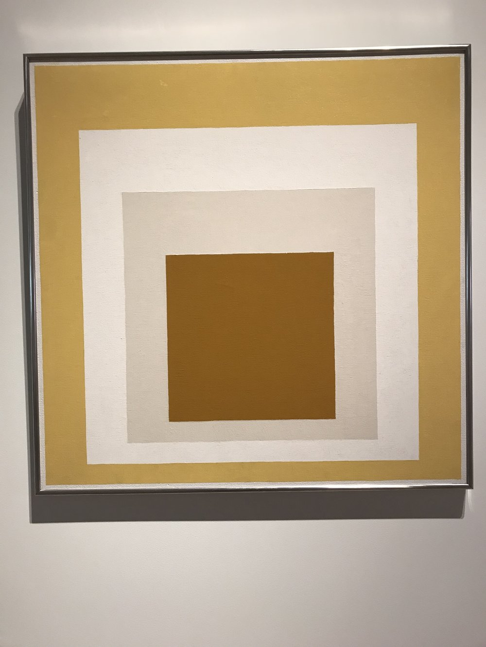 """Josef Albers, """"Homage to the Square: White Setting"""""""