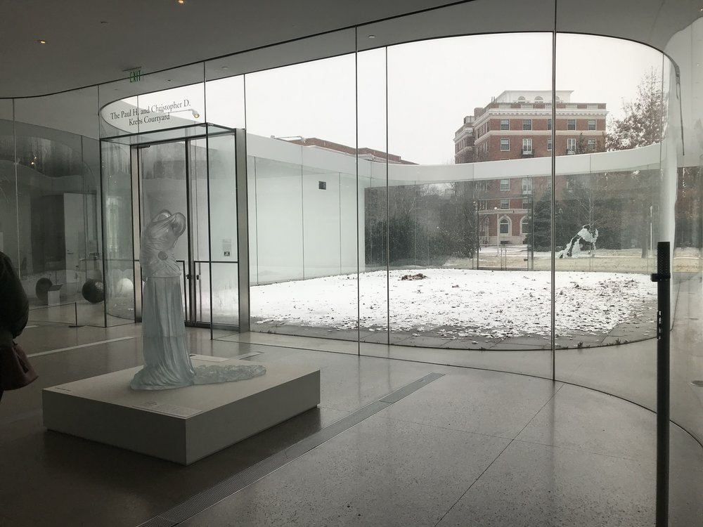 Glass Pavilion looking out