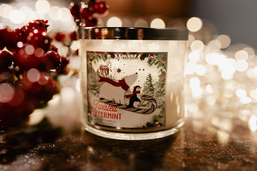 TWISTED PEPPERMINT - The perfect scent to bring a hint of the holidays home with you. A beautifully fresh candle scent that's just the right amount of peppermint and a SMIDGEN of vanilla.
