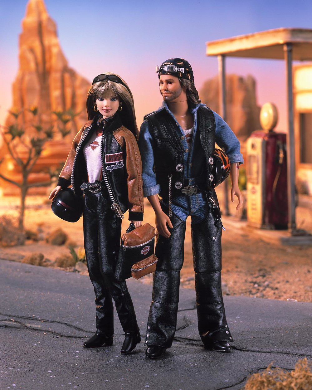 Harley Davidson Barbie and Ken Dolls