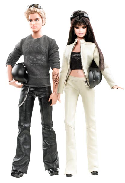 Harley Davidson Barbie and Ken Doll Gift Set