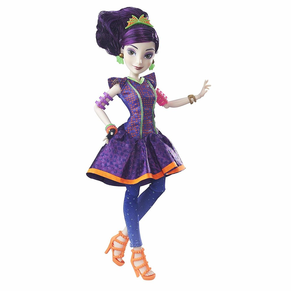 Disney Descendants Mal Neon Lights Ball Doll