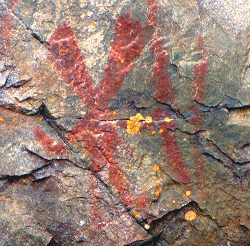 Nanabozho  pictograph, Mazinaw Rock,  Bon Echo Provincial Park ,  Ontario
