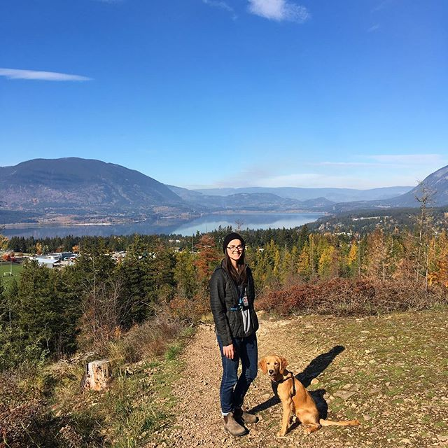 Autumn days are the best. This town is a real beaut. #salmonarm #autumn #fallpuppy