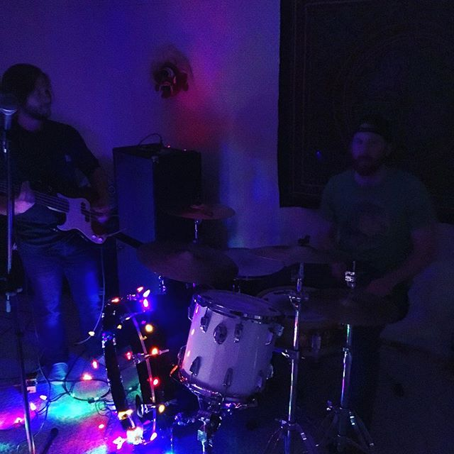 I know it's sunny, but jams in a dark basement are brightening my day. #jams #basementmusic #sunny