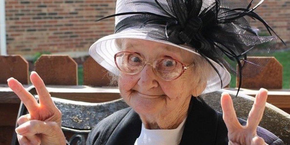 She looks like she might be a fun crazy grandma, doesn't she?