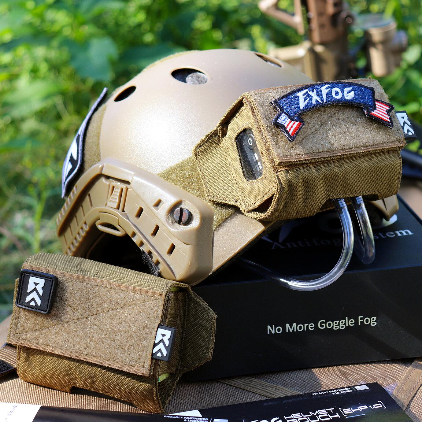 XHP EX-FOG Airsoft Paintball Helmet Pouch 1.0 Anti-Fog EXFOG NEW OD Green