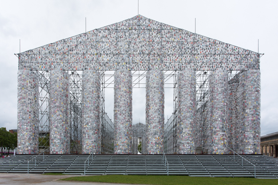 Parthenon of Books, by Marta Minujin, 2017, Courtesy of the author