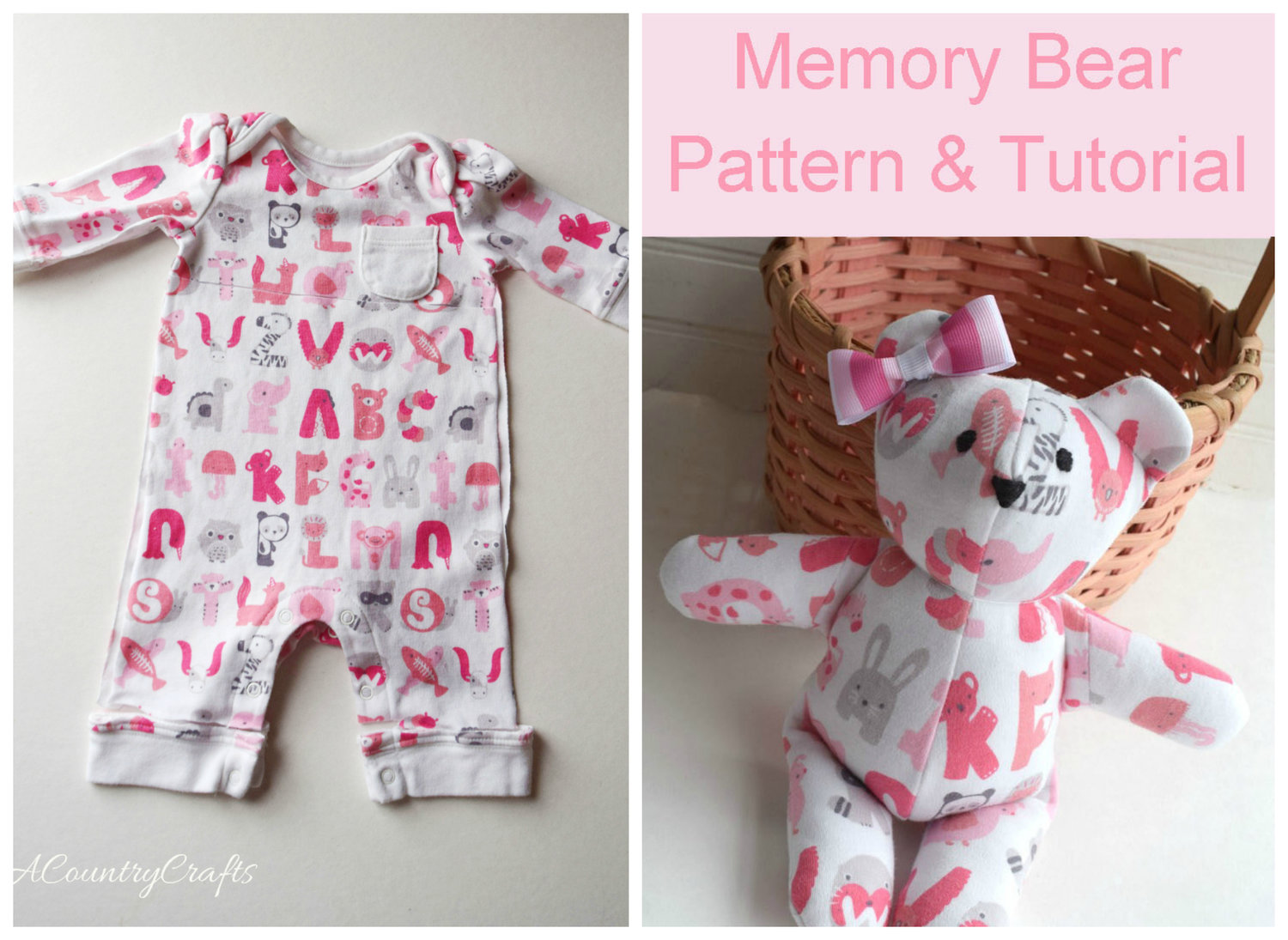 Baby Clothes Memory Bear Pattern And Tutorial Pacountrycrafts
