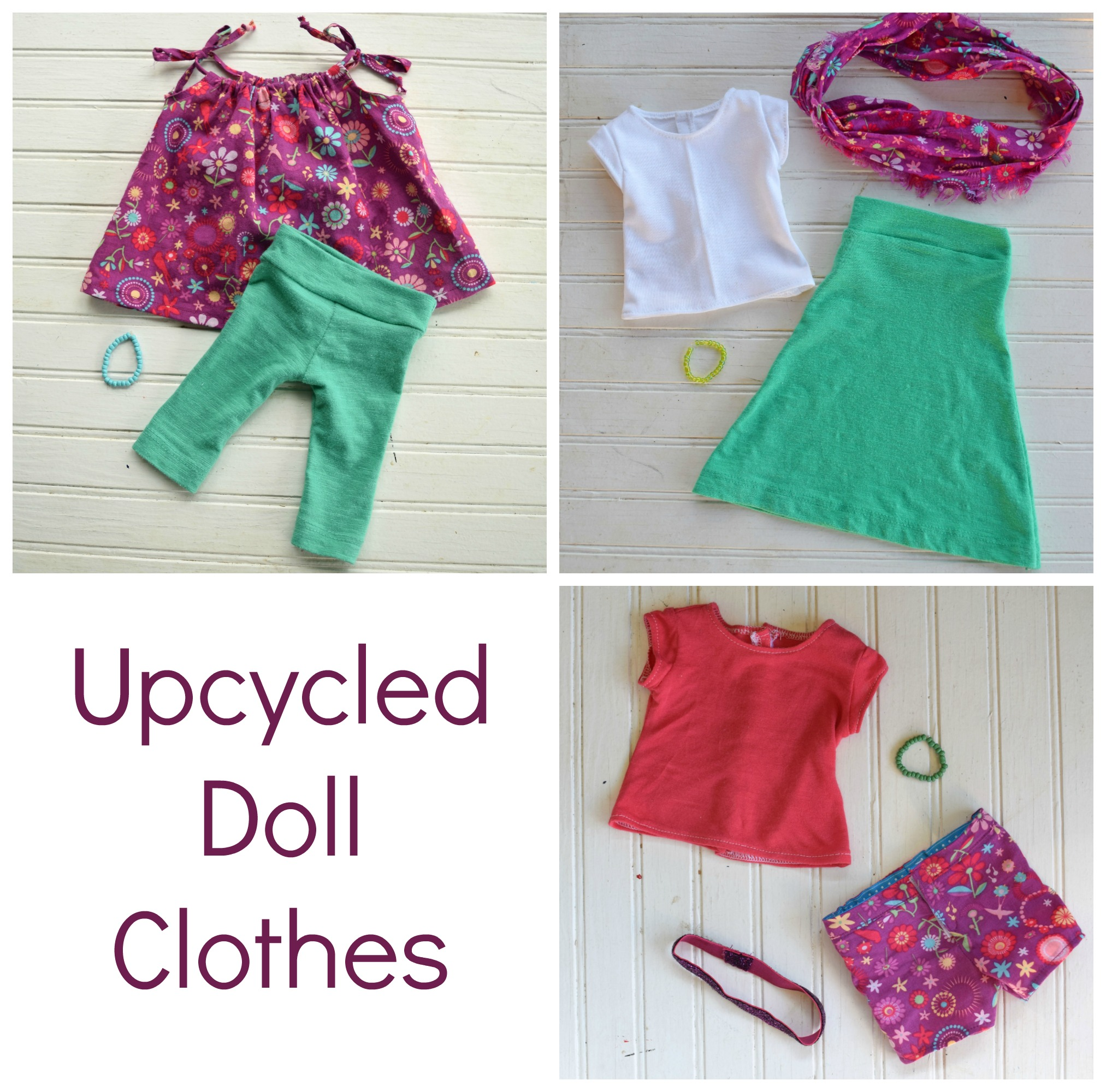 Upcycled Doll Clothes