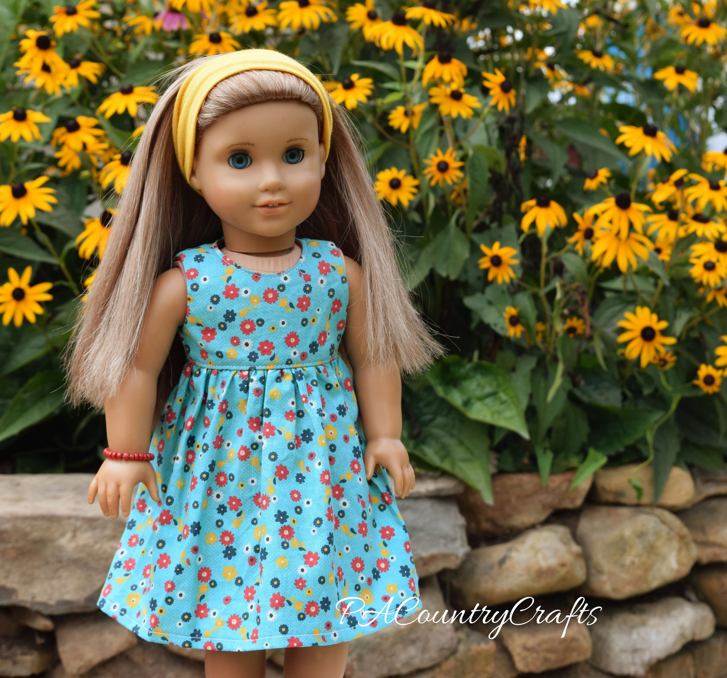 Fall American Girl Doll Dress