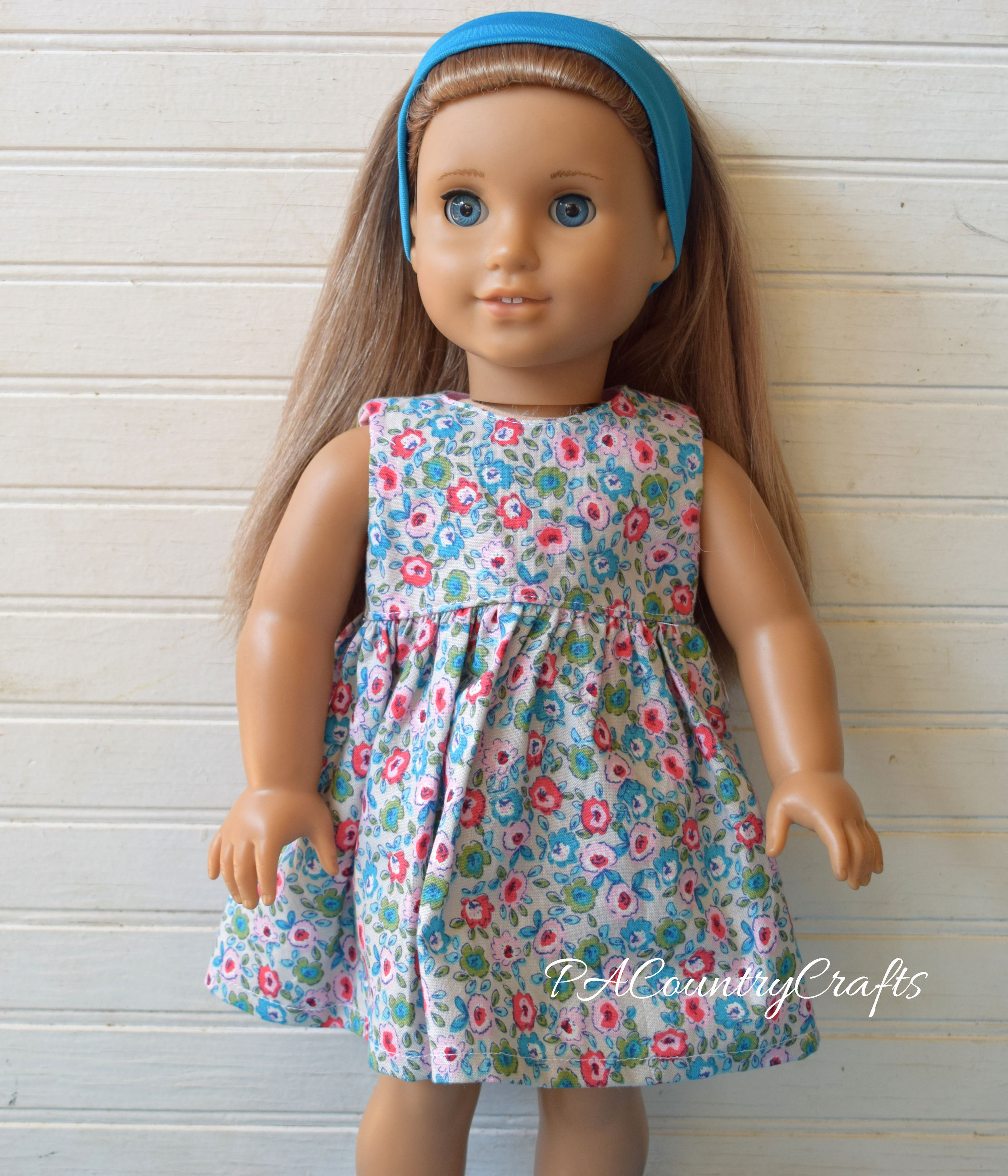gray floral doll dress