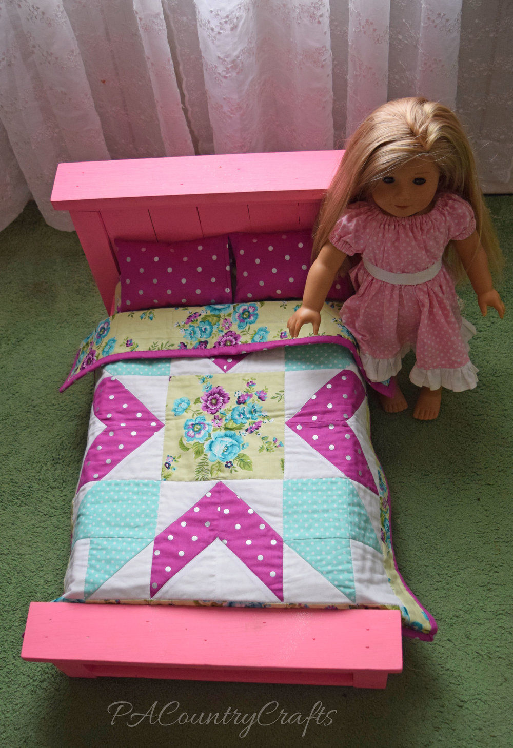 American Girl Doll Bed and Quilt