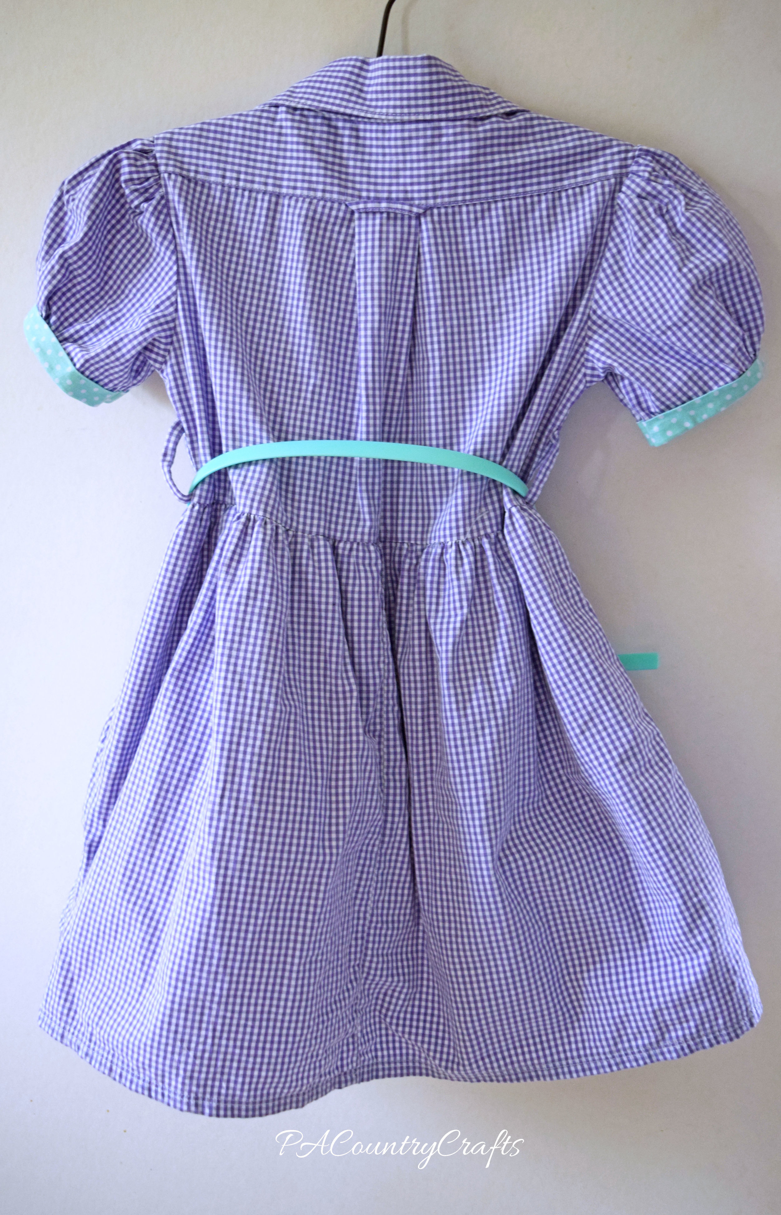back of upcycled shirt dress