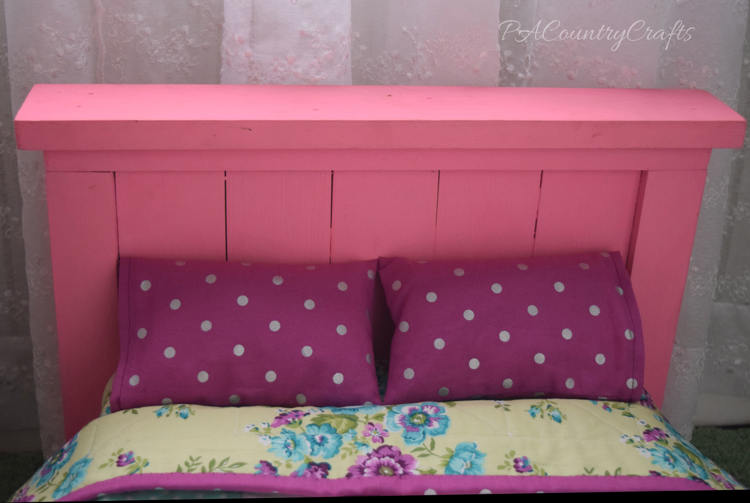 Pink Farmhouse Doll Bed