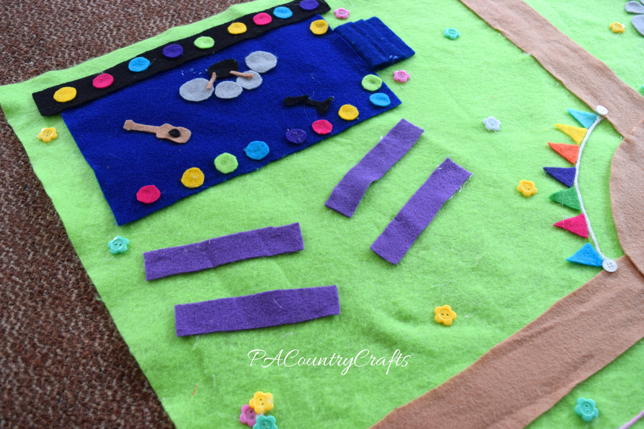 A fun outdoor concert in the park play mat.