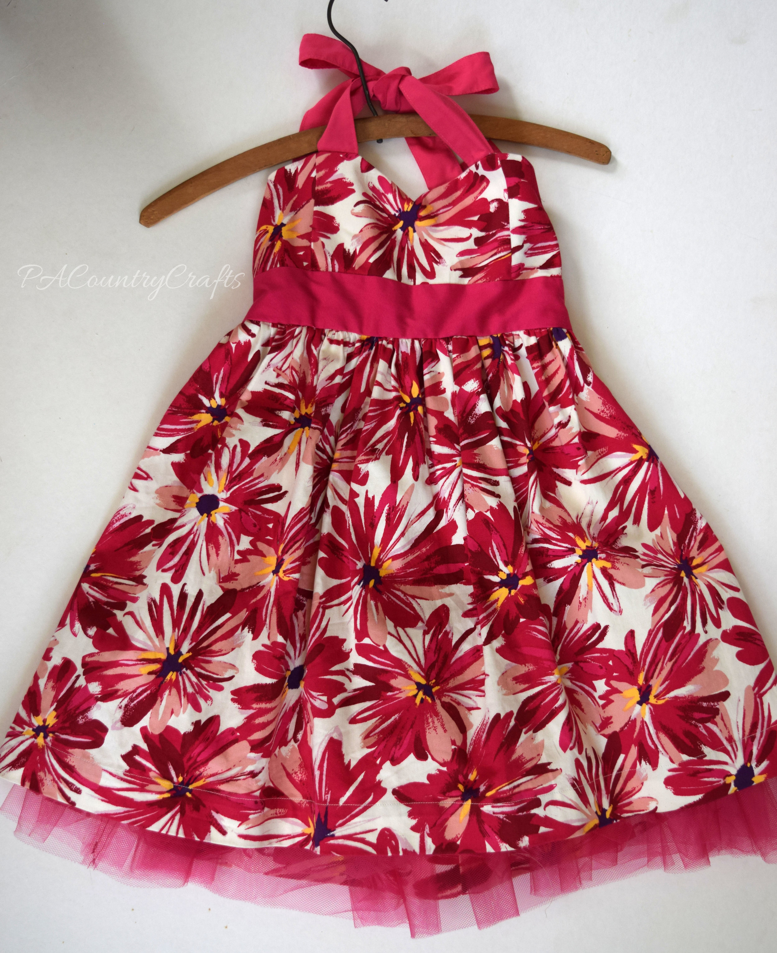 refashioned girls' halter dress